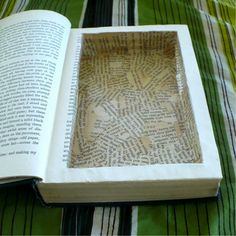 If you have some hardcover books that no one's interested in reading again, don't toss 'em! Construct yourself a Book Hide. This involves hollowing out a book so you can keep valuables or secret stashes inside.