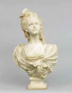 Carrara Marble Bust, ca. late 19th/early 20th Century
