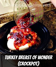 Turkey Breast of Wonder (Crockpot) Turkey isn& just for November for my family we love to eat it all the time! Especially this fabulous, couldn& be EASIER minutes prep is a. Crock Pot Slow Cooker, Crock Pot Cooking, Slow Cooker Recipes, Cooking Recipes, Slow Cooker Turkey, Crock Pots, Crockpot Meals, Cooking Tips, Thanksgiving Recipes