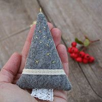 Christmas tree - linen/felt tree filled with lavender buds.