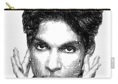 Carry-All Pouch - Prince - Tribute Sketch In Black And White 2