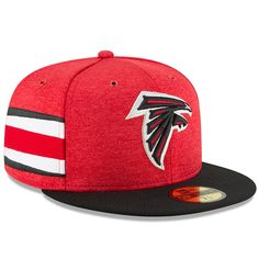 a8566ae5c0c Atlanta Falcons New Era 2018 NFL Sideline Home Official 59FIFTY Fitted Hat  – Red Black. Fanatics