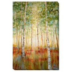 Shop for Nan 'Birch Woods' Canvas Art. Get free delivery at Overstock.com - Your…