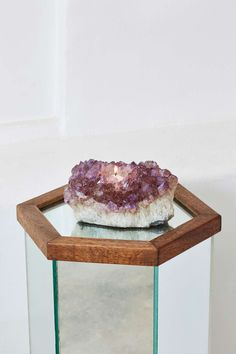 Rock Solid Amethyst Candle Holder.