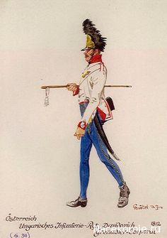AUSTRIA - Grenadier Corporal, Oesterreich-Ungarischen Infanterie, Rgt Danidalovich, 1812
