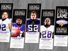 Vikings Print Collateral by Taylar Jacobson, via Behance