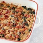 Spinach and White Bean Gratin with Bacon