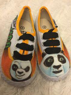 71e2f6fe325b Kung Fu Panda Hand Painted Canvas Shoes