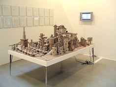 La science des rêves. Michel Gondry film Cardboard City, Cardboard Paper, Fun Crafts, Crafts For Kids, Arts And Crafts, Michel Gondry, Sleep Set, Paper Art, Dining Table