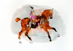 EQUIDEA, inks on Yupo artwork by Pascale Chandler | StateoftheART