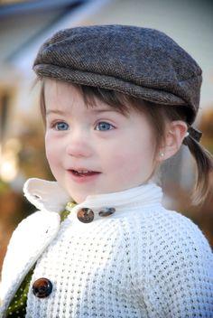 Ivy Cap Golf Cap in Brown Tweed Wool A Hat to grow by Bucketbabies, $35.00