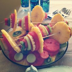 Weighted....fruit on a stick for a crossfit babyshower