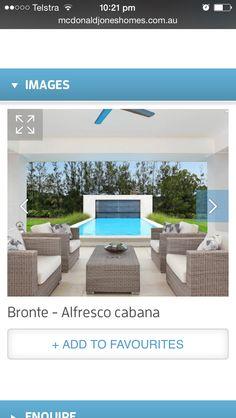 Alfresco pool Bronte House, Outdoor Furniture Sets, Outdoor Decor, Cabana, Sun Lounger, House Design, Home Decor, Chaise Longue, Decoration Home