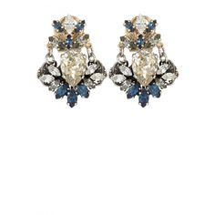 Crystal Cluster Earrings   | Calypso St. Barth