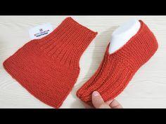 Easy Crochet Slippers, Crochet Slipper Pattern, Crochet Socks, Knit Crochet, Easy Knitting, Baby Knitting Patterns, Loom Knitting, Knitting Socks, Crochet Fruit