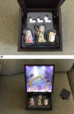 """Cherished Teddies Christmas: Precious Moments, Christmas Gifts, """"Heirloom Nativity Set Deluxe Music Box"""", Led -> BUY IT NOW ONLY: $75.0 on eBay!"""