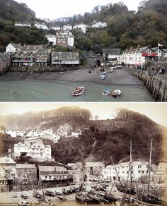 Clovelly Then and Now | Historic Photos of Devon and Cornwall | West Country Lets | http://www.westcountrylets.co.uk/blog/historic-photos-show-little-change-in-the-westcountry-since-the-19th-century.html