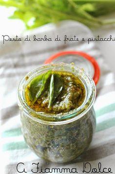 A fiamma Dolce: Pesto di barba di frate e pistacchi (veg)