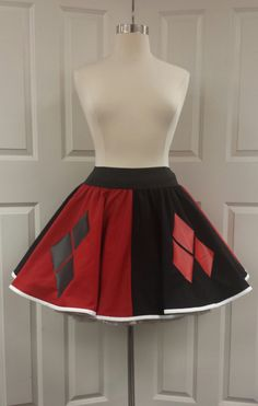 Harley Quinn Skirt by PandorasProductions on Etsy https://www.etsy.com/listing/217558631/harley-quinn-skirt