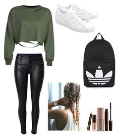 """Untitled #3"" by iuixl on Polyvore featuring WithChic, adidas Originals, Topshop and Laura Mercier"