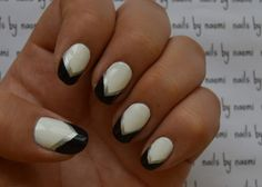 These are THE EASIEST nails of all time! Check out the full video tutorial here and the cute little speedtorial here! After cleaning, filing, and shaping the nail and applying a base coat: 1. apply two thin coats of white polish 2. using the brush...