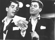 Dean Martin and Jerry Lewis read names on the first MDA Telethon, 1952.  A producer on their TV show whose daughter was affected with muscular dystrophy asked Dean and Jerry for their help raising money and awareness for the disease.