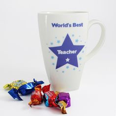 Personalised Worlds Best Blue Star Large Latte Mug  from Personalised Gifts Shop - ONLY £12.99