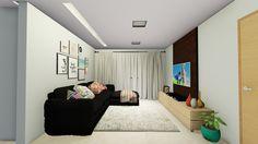Projeto de Reforma de um apartamento de 100m² com 3 quartos, sendo uma suíte. O apartamento, que antes não tinha espaço para uma mesa de jantar, ficou bastante integrado e com uma sensação de...