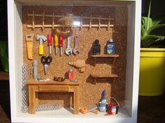 Diorama - quarto de ferramentas