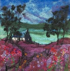 Bothy on Heather Hill by Moy Mackay