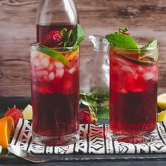 Fruity Hibiscus Mint Iced Tea - My Modern Cookery