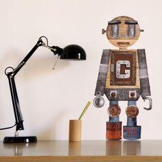 Robot Guim #custom #decor #sticker #kids #wall