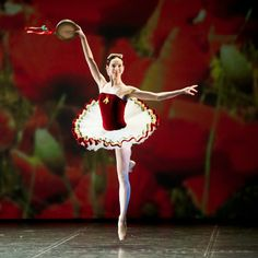 Olesya Novikova, Mariinsky Ballet, performing Tarantella at Dance Open Ballet Festival, April 2011, Saint Petersburg. Photographer Nikolay Krusser. Tarantella is a ballet made by New York City Ballet co-founder and balletmaster George Balanchine to Louis Moreau Gottschalk's Grande Tarantelle, Op. 67 (ca. 1858–64), reconstructed and orchestrated for piano and orchestra by Hershy Kay in July 1954.
