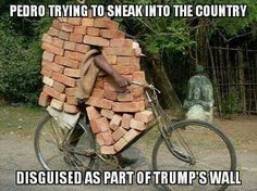 I support Trump, but not necessarily his wall... very funny anyway