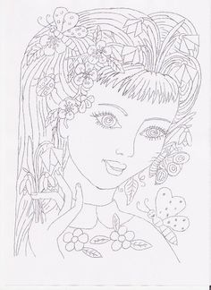Pani Wiosna Easter Colouring, Doodle Coloring, Coloring Pages For Kids, Coloring Books, Embroidery Patterns, Hand Embroidery, Weather Art, Sharpie Art, Perfect World