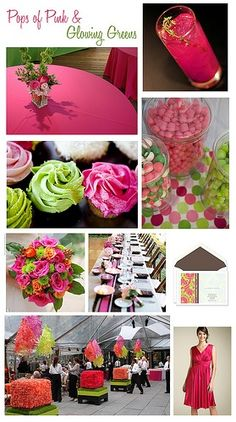 pink and green wedding ideas - Google Search