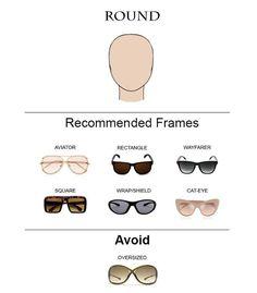 Glass Frames for Round Face Shape  #glasses #sunglasses #eyeglasses
