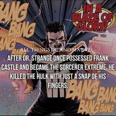 Dr. STRANGE POSSESSES THE PUNISHER  !!! ... KILLED THE HULK !!! °°
