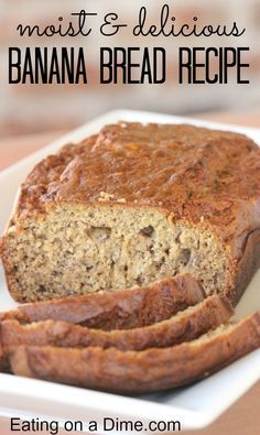 The only banana bread recipe you need! You are going to love this easy moist banana bread recipe.