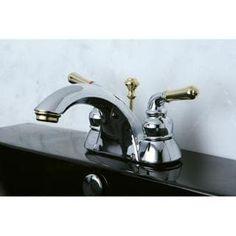 Victorian Chrome Grey Polished Brass Widespread Bathroom Faucet - Chrome polished brass bathroom faucets