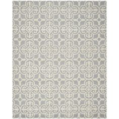 Safavieh Handmade Moroccan Cambridge Silver/ Ivory Wool Geometric-pattern Rug (11' x 15') | Overstock.com Shopping - Top Rated Safavieh Over...