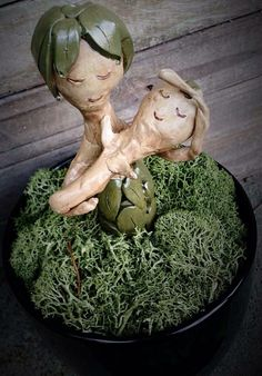 Mother Sprout and baby - fantasy plants - pinned by pin4etsy.com