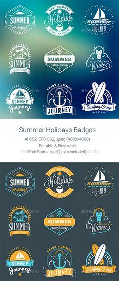 Summer Holiday Badges Design #labels Download: http://graphicriver.net/item/summer-holiday-badges/11825804?ref=ksioks