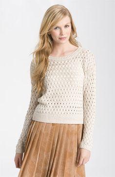 Halogen long sleeve textured sweater
