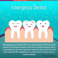Unsure what is a dental emergency? ER visits for dental problems have dramatically increased. Tips for determining the best way to handle your emergency. Dental Bonding, Emergency Dental Care, Tooth Infection, Dental Fillings, Dental Veneers, Dental Bridge, Dental Services, Dental Implants, Teeth Cleaning