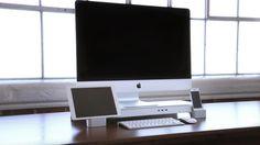 iMac、iPhone、iPadをコンパクトにドッキングできる「UNITI Stand」で机の上を使いやすく整理♬ - iPhone女史