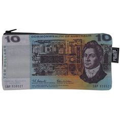 Old Ten Dollar Note Pencil Case or Purse from Sarah J Home Decor. Australian Made. $14.95