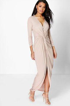 Natasha Drape Ruched Maxi Dress