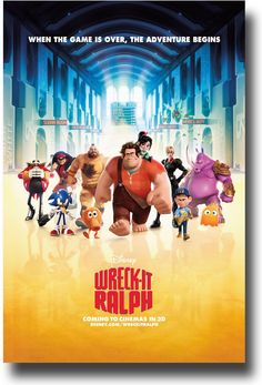 Wreck It Ralph Poster - Yellow Hall avalable at http://concertposter.org/wreck-it-ralph-poster-movie-promo-flyer-11-x-17-green-lake/ #WreckItRalph $9.84