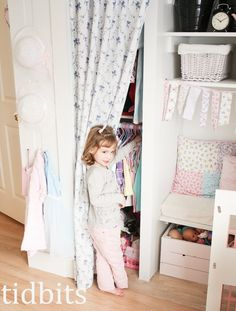 tidbits: awesome little girl closet, pretty and functional